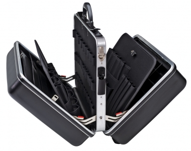 BigTwin Werkzeugkoffer strapazierfähige Ausführung aus ABS-Material, schwarz