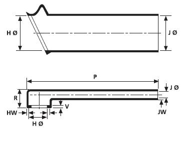 Helashrink® Serie 1100 Rechtwinklige Steckverbinder-Endgehäuse HellermannTyton