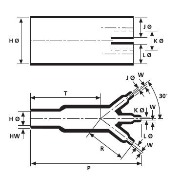 Helashrink® Serie 300 Dreifinger-Formteile  HellermannTyton