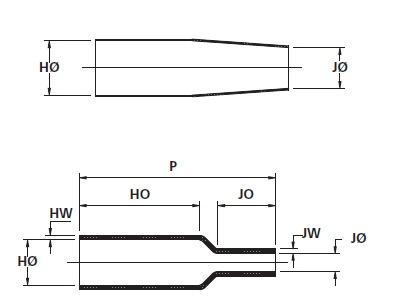 Helashrink® Flachprofil-Formteile 313E445-457 HellermannTyton