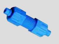Gerader Verbinder Kunststoff blau (POM)