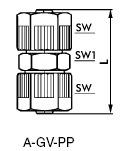 Gerader Verbinder Kunststoff (PP)