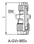 Gerader Verbinder reduziert Messing vernickelt