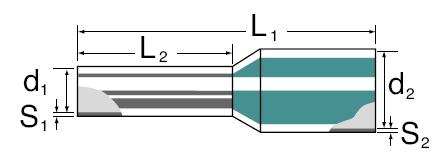 Aderendhülse mit Kunststoffkragen 0,75 mm² - 1,00 mm² lose Bauform