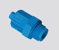 Schnellverschraubung mit Überwurfmutter Gerade Einschraubverschraubung Kunststoff blau