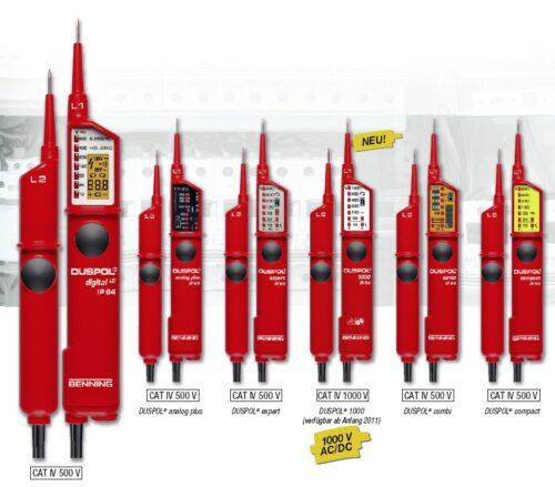 DUSPOL®-Spannungsprüfer, die mit dem VDE-Prüfzeichen Das Prüfgeräte-Equipment der Spitzenklasse