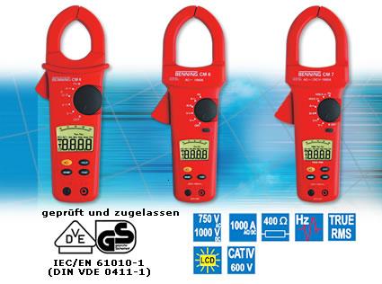 BENNING CM4, BENNING CM6, BENNING CM7 Digital-Stromzangen-Multimeter