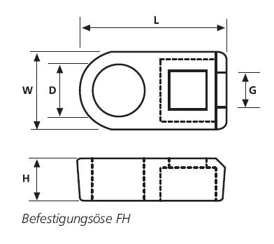 Befestigungsösen CL8, FH HellermannTyton