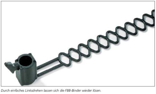 Befestigungsbinder mit Schweißbolzen- Aufnahme am Kopf HellermannTyton