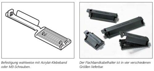 Kabelhalter für Flachbbandkabel schraubbar/selstklebend FKHSerie HellermannTyton