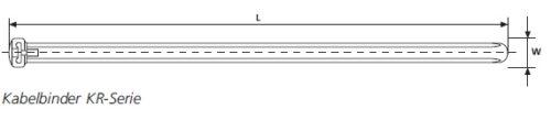 Kabelbinder KR-Serie HellermannTyton