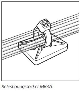 Befestigungssockel schraubbar/ selbstklebend MB-Serie HellermannTyton