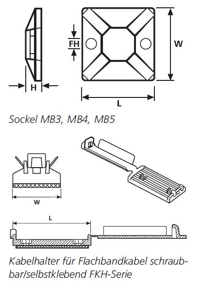 Befestigungselemente mit Spezialkleber – SolidTack®-Serie HellermannTyton