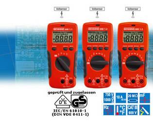 BENNING MM 1-1, MM 1-2 und MM 1-3 Digital-Multimeter mit berührungslosem Voltsensor