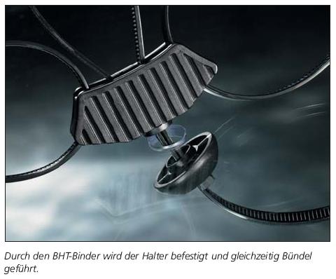 3-Wege-Abstandhalter für BHT-Befestigungsbinder  HellermannTyton