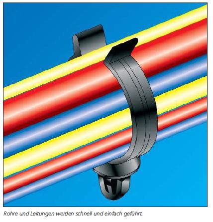 Befestigungselemente für Rohre und Leitungen, PC-Serie HellermannTyton