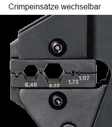 Crimp-Systemzange PEW 12  für isolierte und unisolierte Kabelschuhe und Verbinder