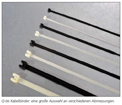Q-tie Kabelbinder schwarz Polyamid 6.6 UV-witterungsstabil (PA66W)