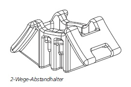 2-Wege-Abstandhalter, S-Serie HellermannTyton