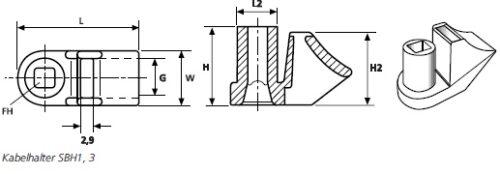 Befestigungselemente mit Schweißbolzenaufnahme SBH, SBF, CTM  HellermannTyton