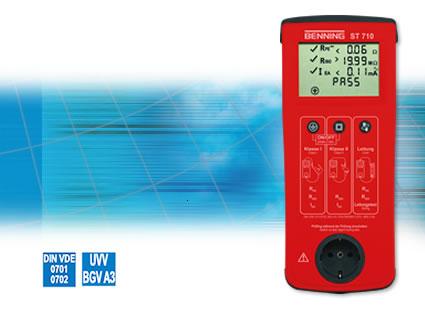 Sicherheitsprüfgerät BENNING ST 710 Batteriebetriebener Gerätetester