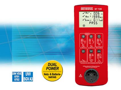 Sicherheitsprüfgerät BENNING ST 720 Netz- und batteriebetriebener Gerätetester