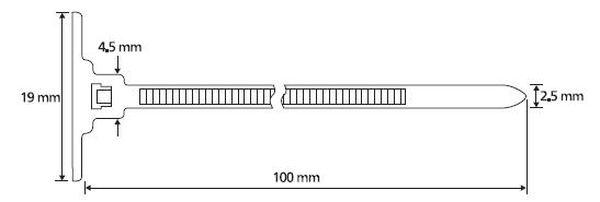 Einteiliger Befestigungsbinder mit Sockel, selbstklebend HellermannTyton
