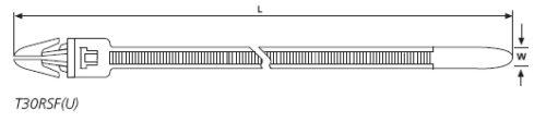 Befestigungsbinder mit Spreizanker und Teller am Kopf HellermannTyton