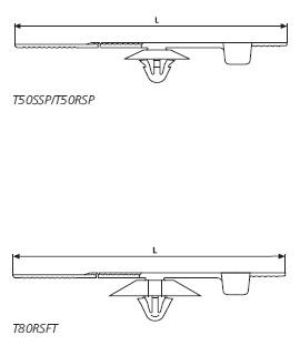 Befestigungsbinder mit Spreizanker und Teller am Kabelband HellermannTyton