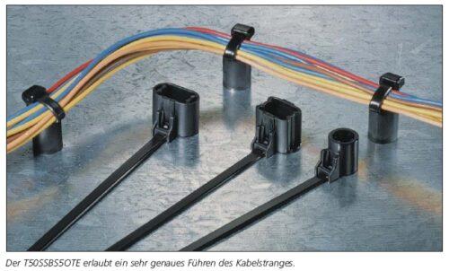 Befestigungsbinder mit Spreizanker am Kabelband HellermannTyton