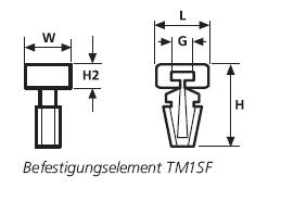 Befestigungselemente mit Steckanker TM1SF HellermannTyton