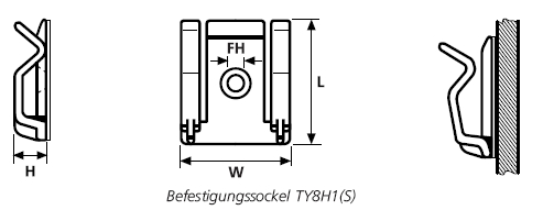 Befestigungssockel schraubbar/selbstklebend TY8H1(S), RA, RB, SAC, 130100, ASI-Clip HellermannTyton