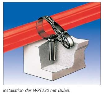 Einteiliger Befestigungsbinder mit Dübel WPT230 HellermannTyton