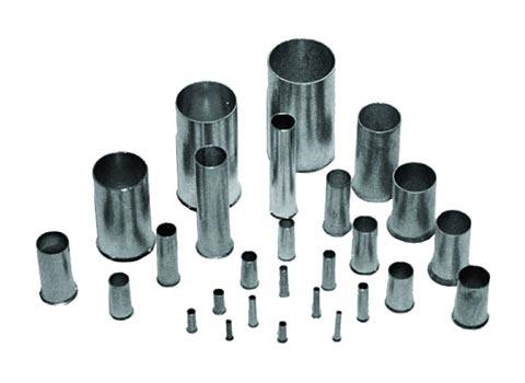 Aderendhülsen unisoliert Querschnitt 0,14 - 1,50 mm²