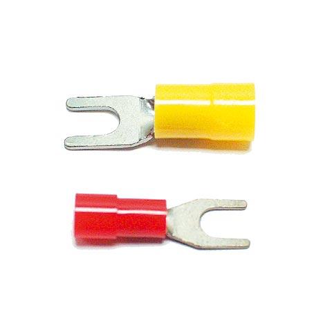 Gabelkabelschuhe, teilisoliert nach UL Nr. E18295 1 zertifiziert