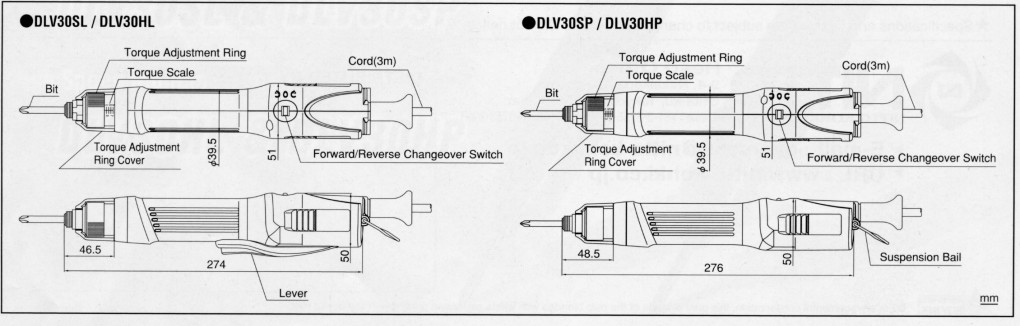 Delvo Elektroschrauber DLV-30  Direktanschluss 230V