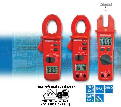 BENNING CM 1-1, CM 1-2 und CM 1-3 Digital-Stromzangen-Multimeter