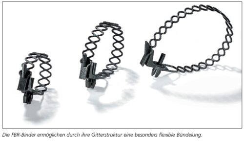 Befestigungsbinder mit Spreizniet am Kabelband HellermannTyton