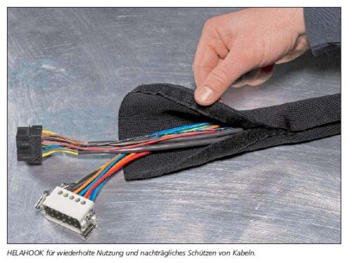 Wiederverschließbarer Kabelschutz HELAHOOK HellermannTyton
