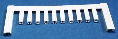VT SF 0/12 NEUTRAL WS V0, Weidmüller Leitermarkierer, SlimFix 0 (0,25 - 0,5 mm²)