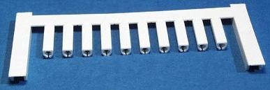 VT SF 1/12 NEUTRAL WS V0, Weidmüller Leitermarkierer, SlimFix 0 (0,5 - 0,8 mm²)