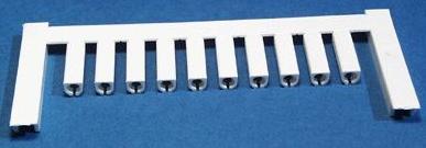 SF 2/12 NEUTRAL WS V2, Weidmüller Leitermarkierer, SlimFix 0 (0,5 - 0,8 mm²)