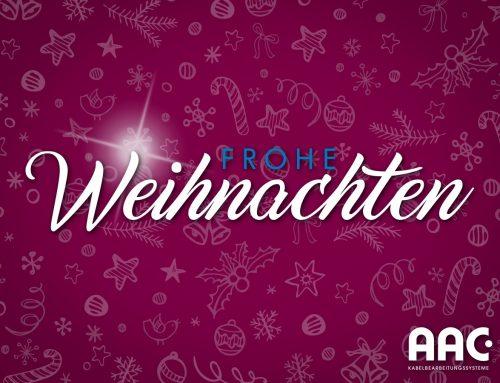 Die AAC Kabelbearbeitungssysteme GmbH wünscht frohe Weihnachten!